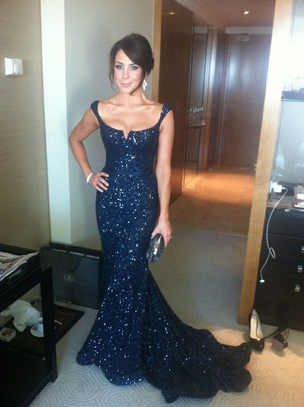 Navy Blue Prom Dresses,Sequin Evening Dress,Sequined Prom Gowns ...